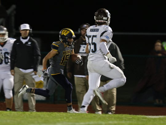 Wayne Central's Anthony Muratore almost breaks away