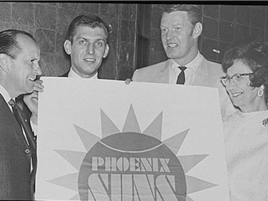 "Selinda King of Phoenix (right) won a ""Name the Team"""