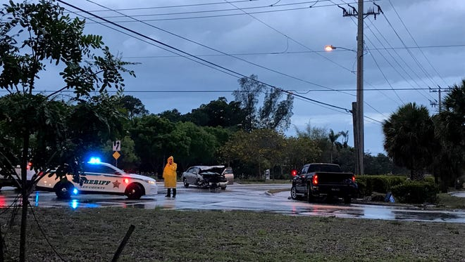 Westbound Bonita Beach Road is temporarily closed Friday morning because of a crash near the intersection of Windsor Road in Bonita Springs.