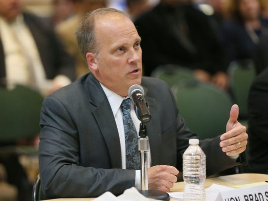Wisconsin Attorney General Brad Schimel testifies at an April 2016 panel in Pewaukee about the heroin epidemic. The Waukesha County Drug Treatment Court, which Schimel helped create, recently received some federal grant money.  Michael Sears, Milwaukee Journal Sentinel Wisconsin Attorney General Brad Schimel testifies at an April 2016 panel in Pewaukee about the heroin epidemic. The Waukesha County Drug Treatment Court, which Schimel helped create, recently received some federal grant money.