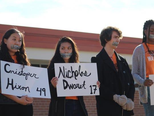 Students at Homestead High School wore orange shirts