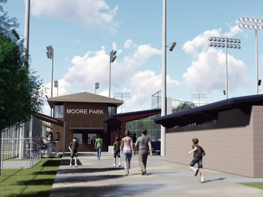 This rendering shows plans for Moore Park after improvements