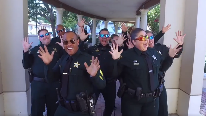 Ivey's at it again: Sheriff and team step up to #LipSyncChallenge with 'Rocky' theme song