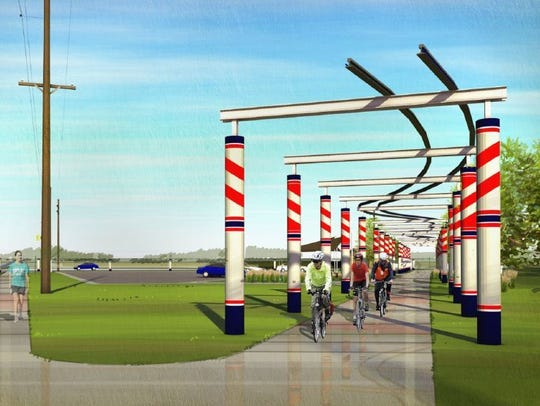 A massive art structure proposed for the Raccoon River