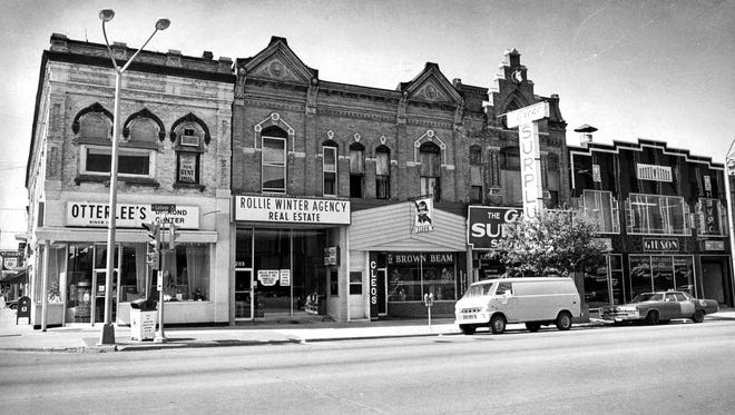 200 block of College Avenue May 31 1978.