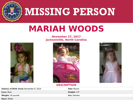 The FBI issued this poster Tuesday as the search for