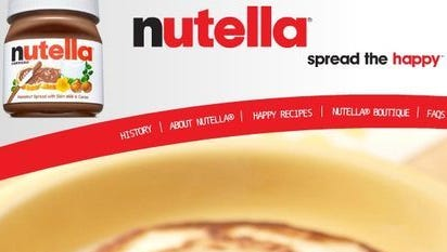 Nutella is a popular hazelnut spread.