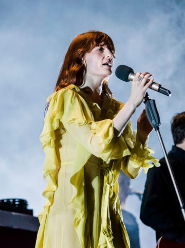 Florence and The Machine performs on the Main Stage at the Firefly Music Festival in Dover on Saturday.