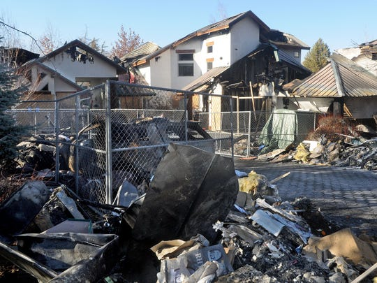 The remains of Richard West's home in Hidden Valley on Jan. 13. Since the fire, there have been questions about fire response.