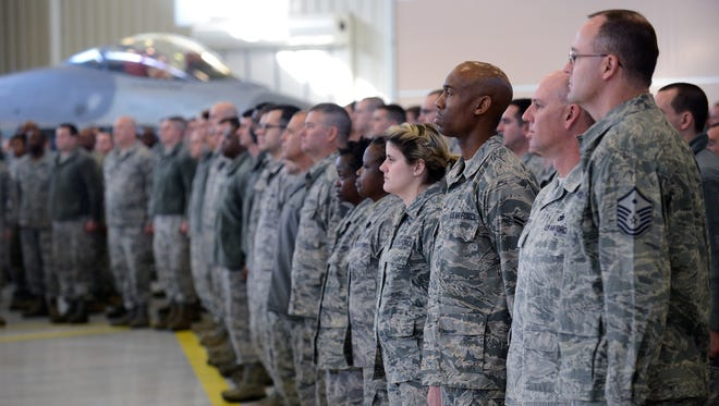The 187th Fighter Wing Change of Command Ceremony at Dannelly Field in Montgomery, Ala. on Saturday January 10, 2015.