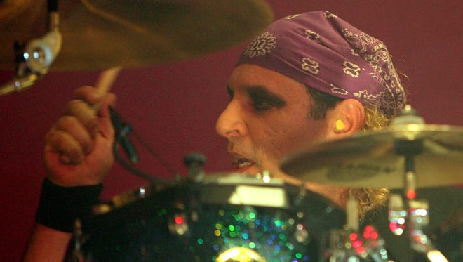 Twisted Sister drummer A.J. Pero performs at The Joint inside the Hard Rock Hotel & Casino September 2, 2006 in Las Vegas, Nevada.