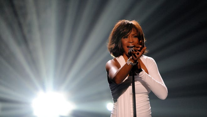 The late Whitney Houston at the 2009 American Music Awards.