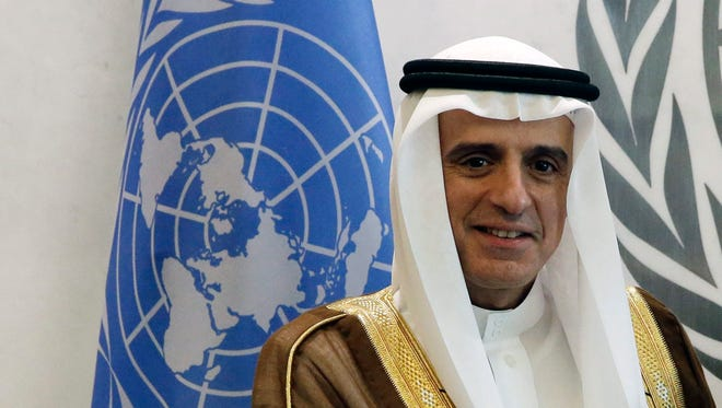 Adel Ahmed Al-Jubeir, foreign m,inister of Saudi Arabia, at the United Nations Sustainable Development Summit in New York on Sept. 26, 2015.