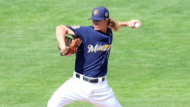 Josh Hader is one of the Brewers' top minor-league pitchers.