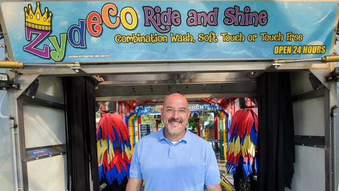 Burley Pellerin, owner of Zydeco Car Wash.