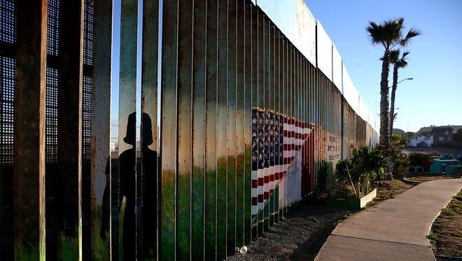 The U.S.-Mexican border in Tijuana on Jan. 27, 2017.