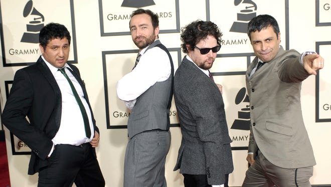 Musical group The Shins arrives at the 50th Annual Grammy Awards February 2008 in Los Angeles.