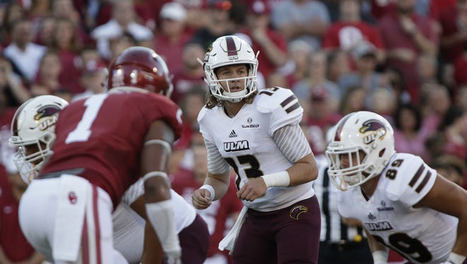 Garrett Smith (13) has been ULM's starting quarterback since his redshirt freshman season in 2015, but the rising junior has missed nine games in two seasons due to injury.