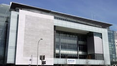 The exterior of the Newseum, a 250,000 square-foot