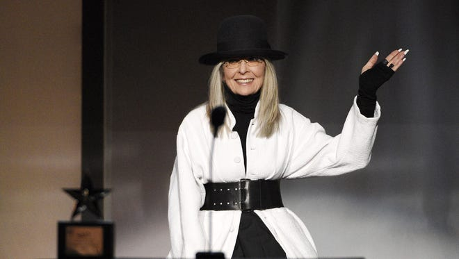Diane Keaton waves to the audience after receiving the 45th AFI Life Achievement Award during a gala tribute to her at the Dolby Theatre on Thursday, June 8, 2017, in Los Angeles.