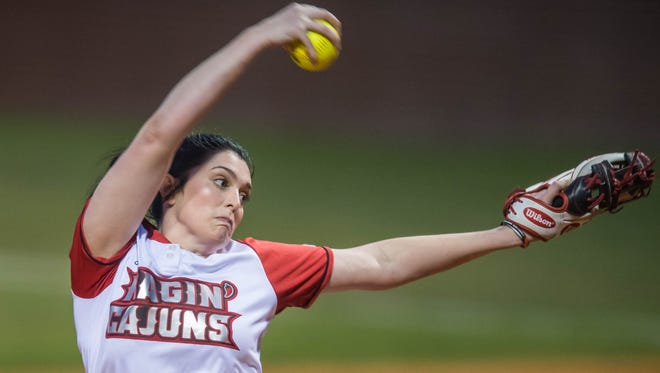 UL pitcher Kylee Jo Trahan was named the Sun Belt Pitcher of the Week after going 3-0 with a 0.47 ERA in 15 innings in the Mardi Gras Classic last weekend.
