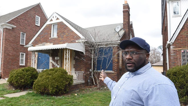 """""""I like to paint the picture of my community as a community that's on the rise,"""" said DeShawn Hurt of the Regent Park Community Association, which covers areas of Detroit's 48205 ZIP code."""