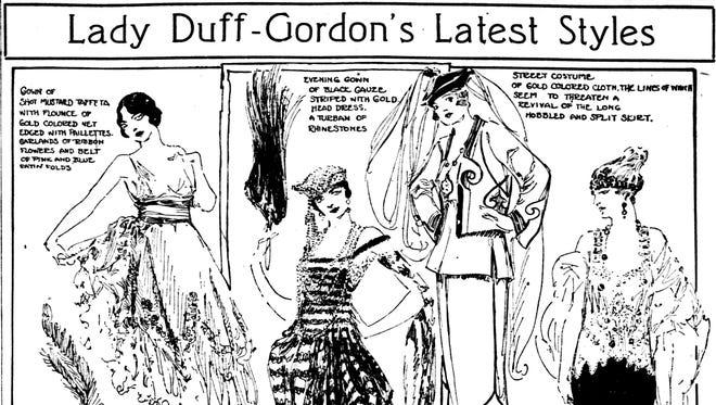 Lady Duff-Gordon designs, 1918.