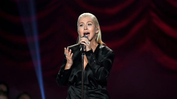 Christina Aguilera performs onstage during the 2017