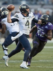 Pitt's Nathan Peterman is beginning to rise on the