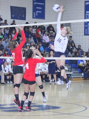 Silver's Megan Mattie was a hitting machine Tuesday night against Cobre. She tallied 15 to pace the Lady Colts in the win over Cobre.