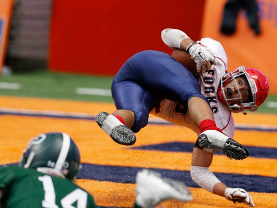 Action from Sunday's New York State Class B football