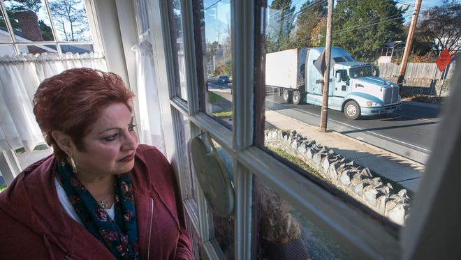 Mary Ann Summers is petitioning the state to better enforce truck traffic laws along her street on Newport Gap Pike near Brandywine Springs Park.