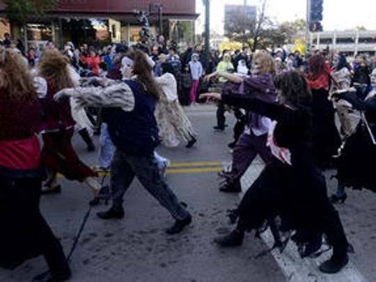 Zombies will gather downtown Saturday for the annual walk.