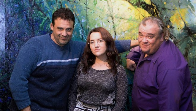 From left to right, Joe Bahamonde, Carlee Hulsizer and David Attridge, hosts of Two Guys and A Girl radio show.