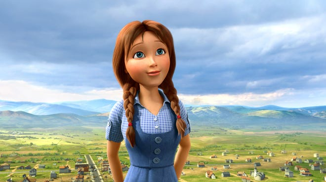 """Dorothy (voiced by Lea Michele) in a scene from the animated film """"Legends of Oz: Dorothy's Return."""""""