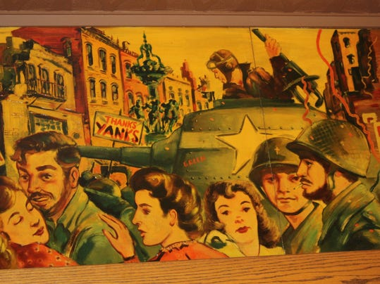 Scene from Liberation of Italy Mural by Donald Peters