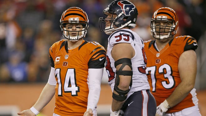 Cincinnati Bengals quarterback Andy Dalton said he should not have reacted the way he did postgame in regards to comments from J.J. Watt.