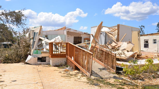 It is believed a tornado touched down Sunday night in Island Lakes, an upscale manufactured home neighborhood on North Courtenay Parkway on Merritt Island.  The tornado destroyed numerous homes crossed the street damaging Orsino Baptist Church, damaging the front lobby and tearing off the steeple.