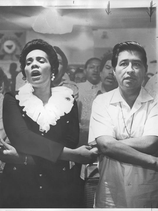 Cesar Chavez & Coretta Scott King