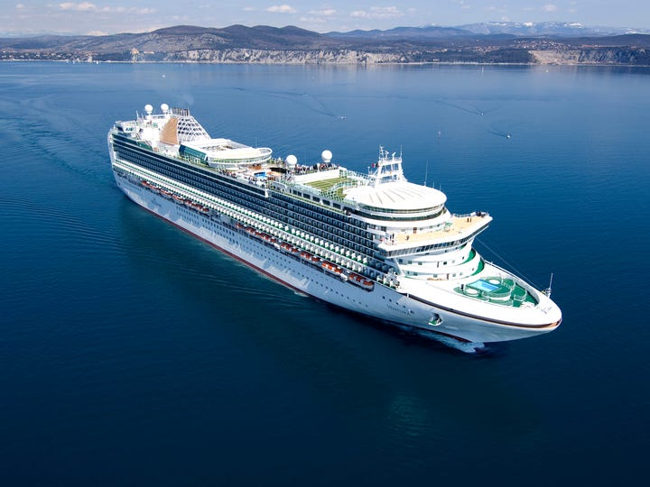 33. Ventura, built by P&O Cruises in 2008, weighs 116,017 GT and carries 3,092 passengers at double occupancy.