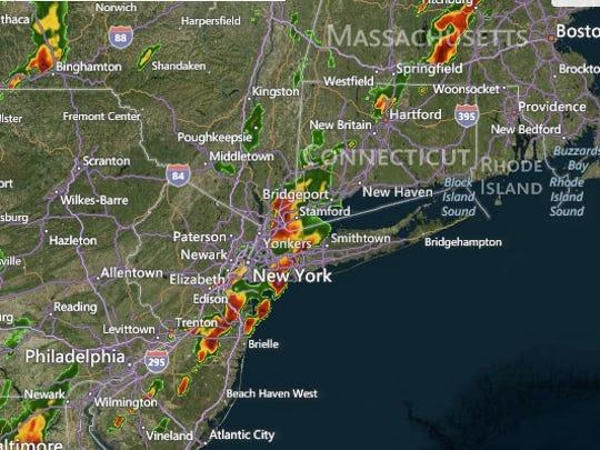 Flash flood warning in effect in region.
