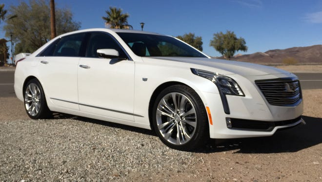 The 2016 Cadillac CT6 luxury sedan weighs hundreds of pounds less than its competitors