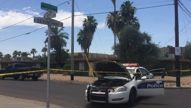 Police respond to a shooting this afternoon near 10th Street and Devonshire.