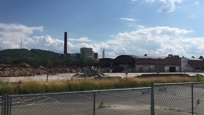 Demolition is under way at the old BAE Systems site at 600 Main St. in Westover.
