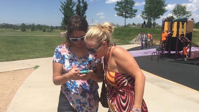 People play Pokemon GO on Monday, July 11, in Fort Collins.