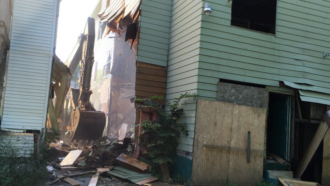 A blighted property on Mygatt Street in the City of Binghamton.