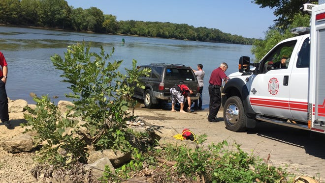 A truck was recovered from the Cumberland River on Tuesday morning.