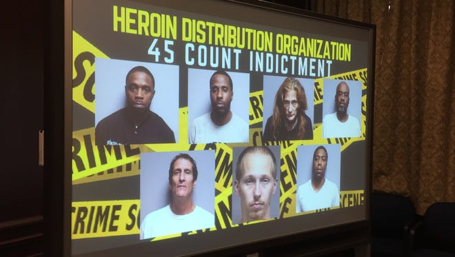 Seven defendants were indicted Friday, Nov. 4, 2016, in  a Broome County heroin trafficking case.