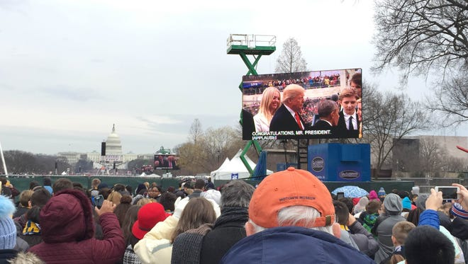 Fond du Lac natives Maria Holschbach and Zakia Trotter attended the presidential inauguration.