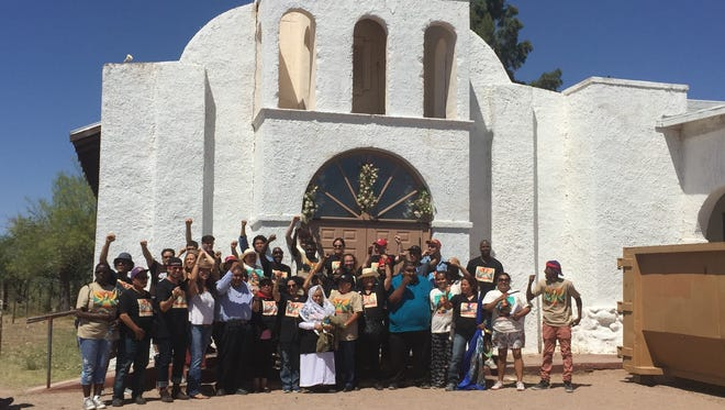 A group opposing President Donald Trump's policies and calling itself the Caravan Against Fear traveling from California across the Southwest has joined the Tohono O'odham Nation's fight against Trump's border wall.